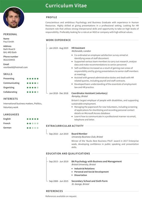 Work Cv Template by Cv Exles Use Our Templates To Professionally Format