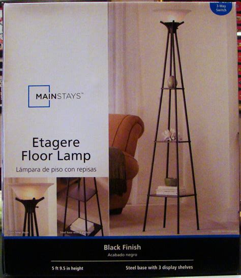 Mainstays Etagere Floor L by New Mainstays Etagere Black Finish Floor L Light With 3