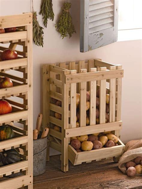 rangement pomme de terre cuisine range pomme de terre objet et meuble en palette diy