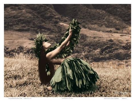 Offering to Pele, Hawaiian Hula Dancer Prints by Alan ...