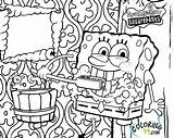 Spongebob Coloring Pages Squarepants Printable Krab Krusty Sponge Bob Patrick Friend He Named Works Restaurant sketch template
