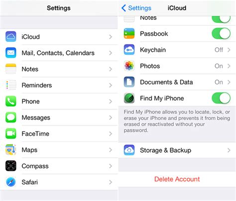 to delete icloud account on iphone how to delete icloud backups on iphone