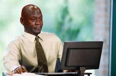 Michael Jordan Crying Meme - michael jordan crying and looking at his meme crying michael jordan know your meme