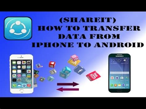 how to send videos from android to iphone shareit how to transfer data from iphone to android How T