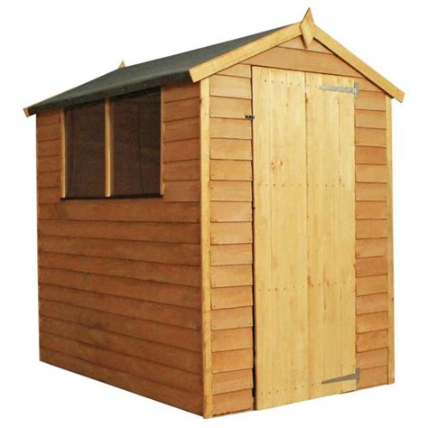Tidmouth Sheds Wooden Argos by Buy Mercia Overlap Apex Wooden Garden Shed 6 X 4ft At