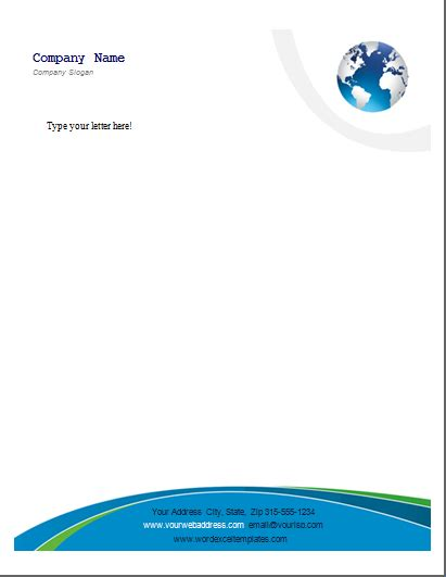 ms word business letterhead templates word excel templates