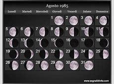 Calendario Lunare 1985 Fasi lunari