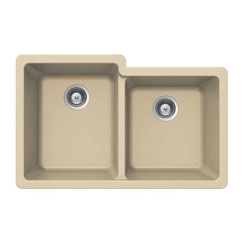 composite undermount kitchen sinks houzer quartztone undermount composite granite 33 in 5666
