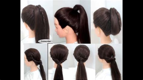 Easy Ponytail Hairstyles For by Easy Hairstyles 6 Ponytail Hairstyles For Hair