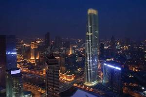 The Night Of Tianjin City,China Stock Photo - Image of ...