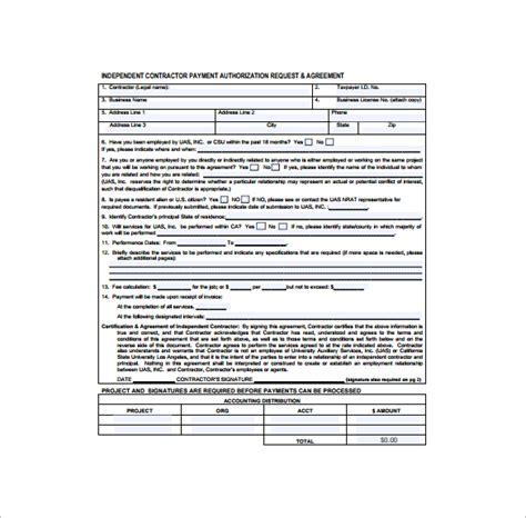 contractor receipt templates