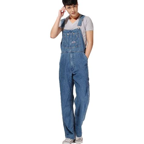 Celana Large Size Wh0106 aliexpress beli pria plus ukuran jumpsuits overall