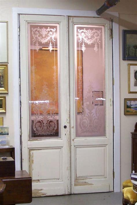 victorian etched glass door panel glass doors  paris pair  french doors  paris