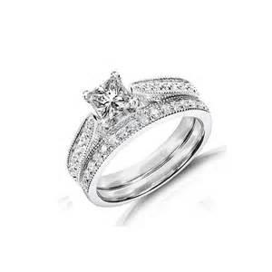 inexpensive wedding rings inexpensive antique wedding ring set on 10k white gold jewelocean