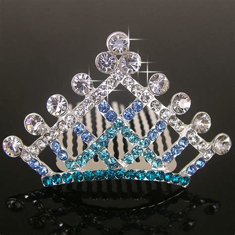 beauty  fashion blue diamond tiara crown