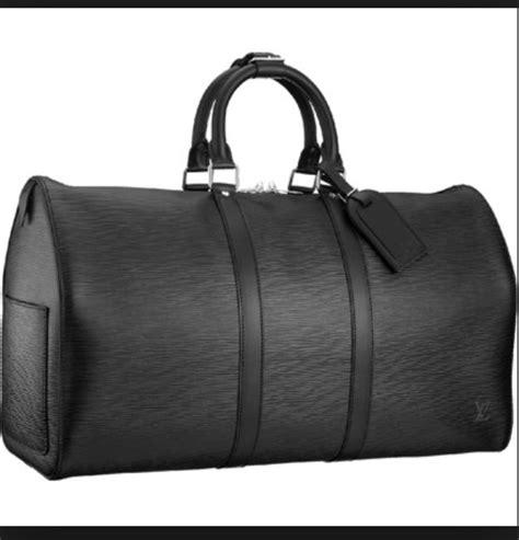 louis vuitton black travel bag tradesy
