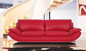 Acheter Canapé Pas Cher : comment acheter un canap cuir rouge pas cher canap show ~ Teatrodelosmanantiales.com Idées de Décoration