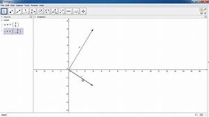 Vectors Lesson 20 - Drawing Vectors In Geogebra