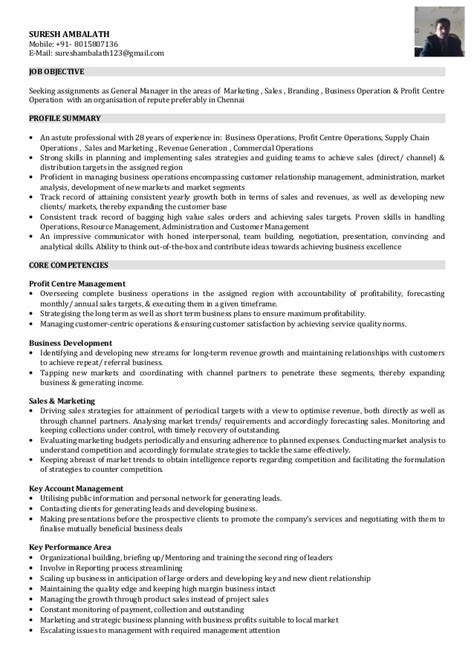 i am looking for a position of general manager marketing