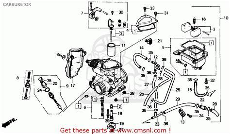 honda trx350d fourtrax foreman 4x4 1987 h usa carburetor