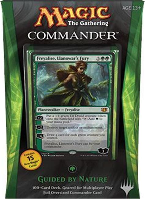 Mtg Deck List Commander by Commander 2014 Guided By Nature Deck Mtg Magic The