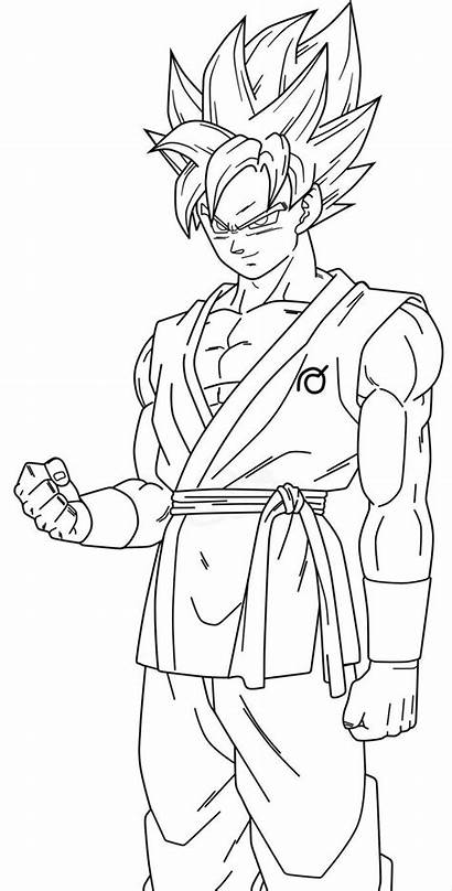 Coloring Goku Pages Dragonball Nice