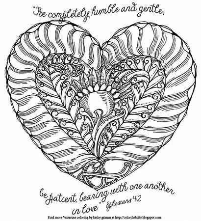 Coloring Fern Valentine Flower Ephesians Humble Heart