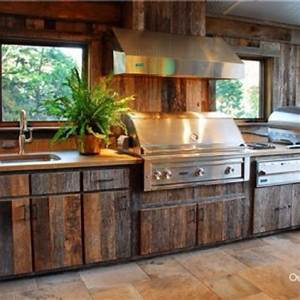 Outdoor Kitchen Wood Cabinets Video And Photos