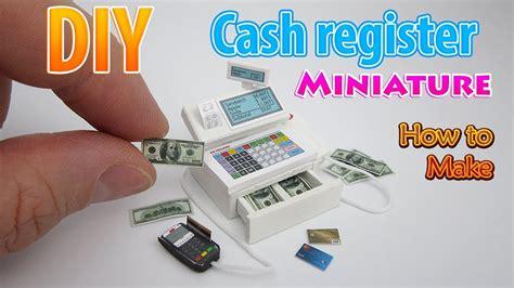 diy realistic miniature sash register dollhouse