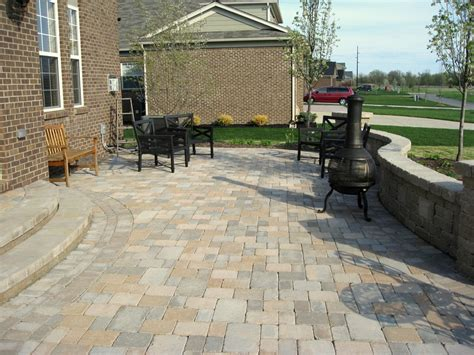 impressive patio pavers method seattle rustic exterior