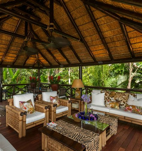 Thatched Roof House With Outdoor Entertaining Spaces by Inspired Decor With Thatched Gazebo For
