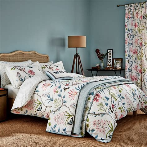 clementine tropical bedding pink duck egg at bedeck 1951