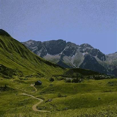 Giphy Mountain Sticker Range Mountains Tweet Gifs
