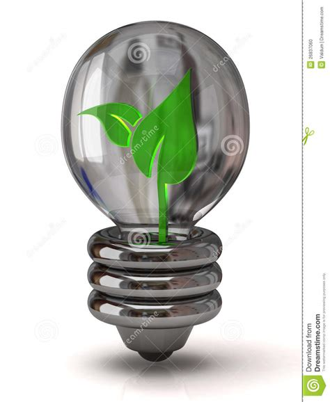 light bulb with plant inside stock photo image 26837060