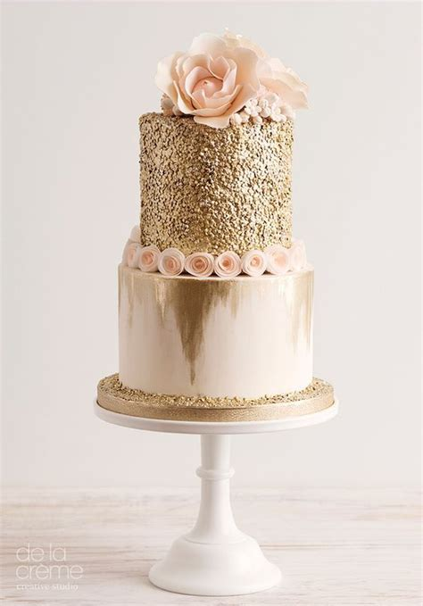 silver leaf finish best 25 gold cake ideas on pink gold cake