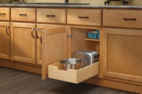Revashelf  4wdb15  Medium Wood Base Cabinet Pullout