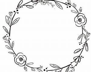 Black And White Wreaths - Free Clipart