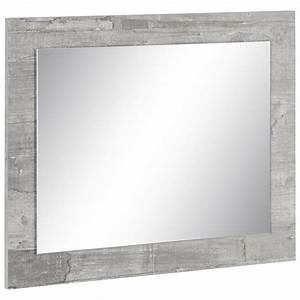 Miroir Rectangulaire Mural : miroir mural rectangulaire avec cadre pierre blanc autres mobilier 3suisses ~ Teatrodelosmanantiales.com Idées de Décoration