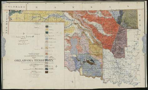 geologic map  oklahoma discovered  display