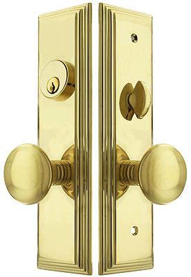 manhattan mortise lock entry set  providence knobs house  antique hardware