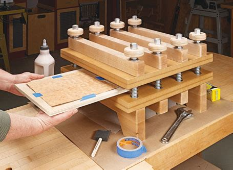 heavy duty veneer press woodsmith plans