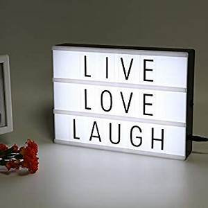 amazoncom litenergy light up your life a4 size cinematic With light letters amazon