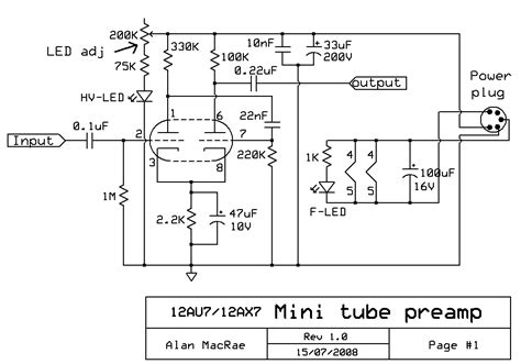 Tube Preamplifier Schematic Electronics