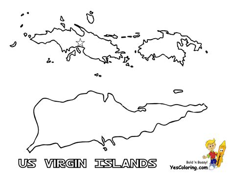 Virgin Islands Us Map Coloring Pages - Learny Kids
