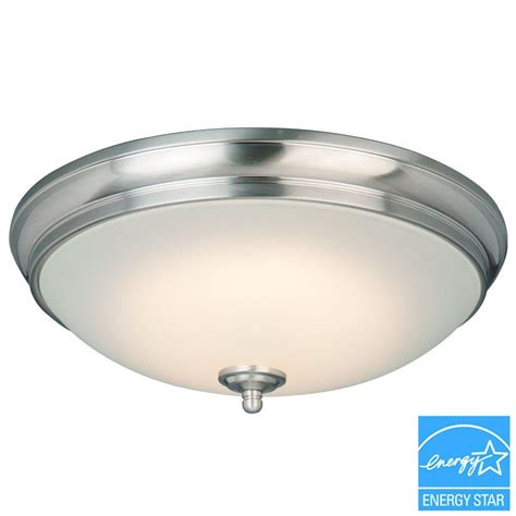electrical contractors led lighting commercial electric 13 in 60 watt equivalent brushed