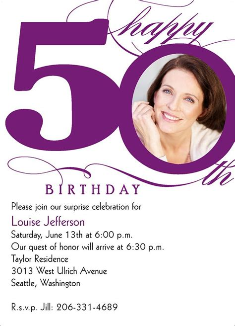 Template For 50th Birthday Invitations Free Printable by 50th Birthday Invitation Templates Free Printable A