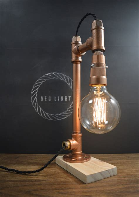 ampere pipe lamp copper neu light  madeit