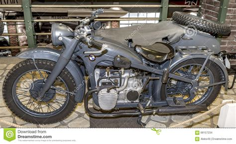 Bmw R-71- Army Motorcycle (germany),1938 Editorial Stock