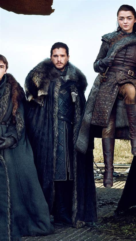 Wallpaper Game of Thrones Season 7, Jon Snow, Arya Stark ...