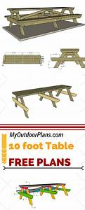 Check Out Free Plans For Building A 10 Foot Picnic Table